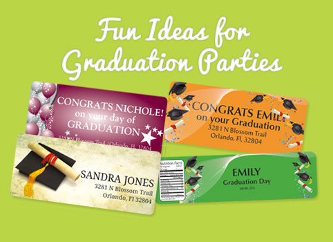 Graduation Party Custom Labels