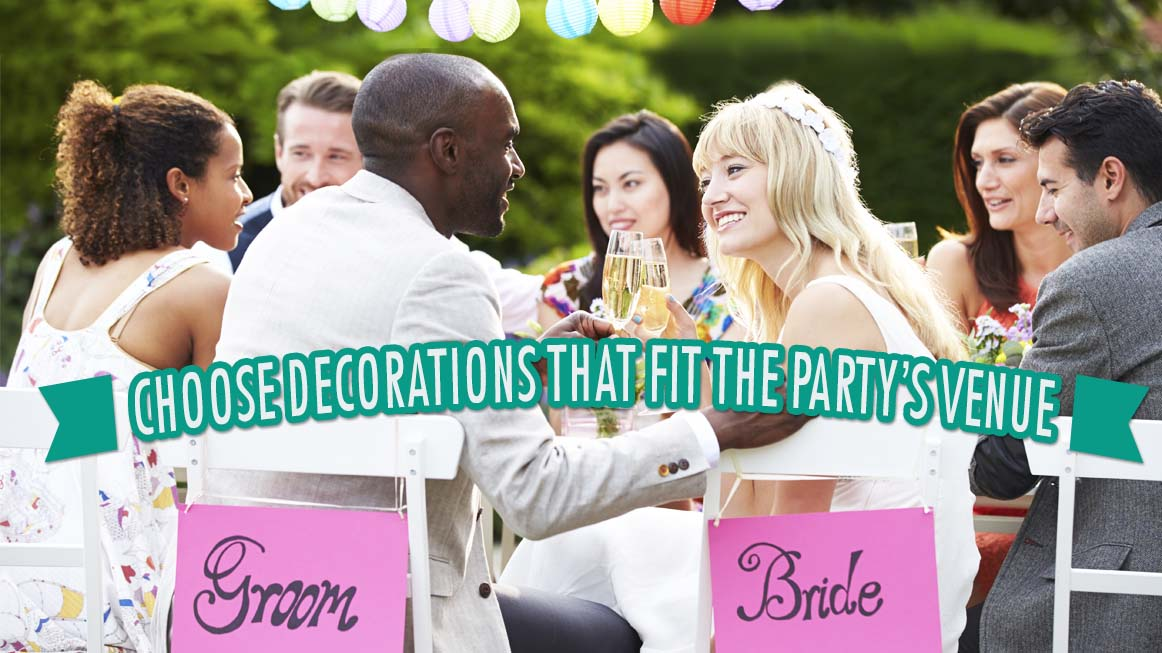 Choose Decorations That Fit Your Engagement Party Venue