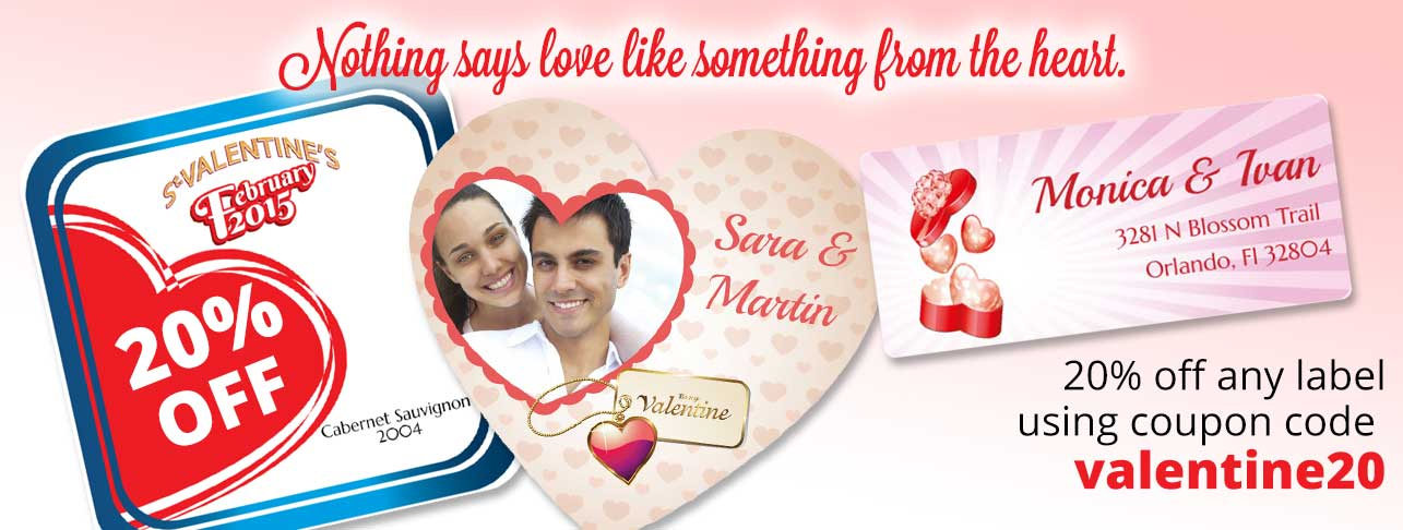 Custom Labels Depot Valentine's Day 2015 Promotion